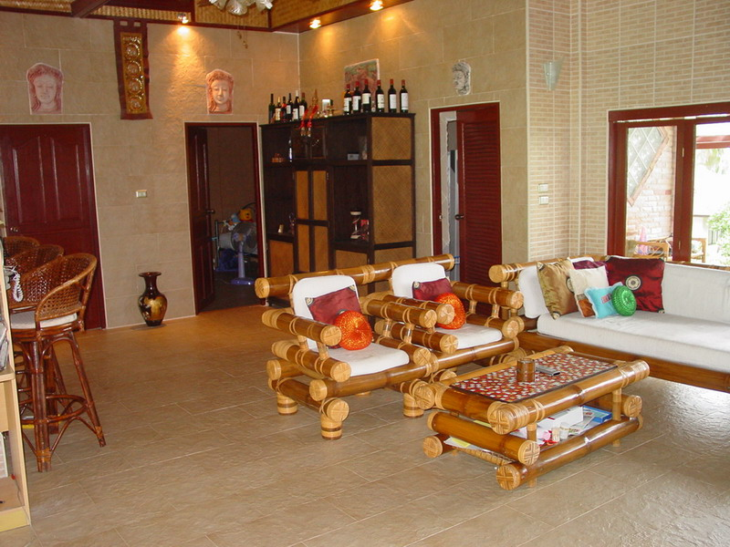 Living Room With Bamboo Furniture